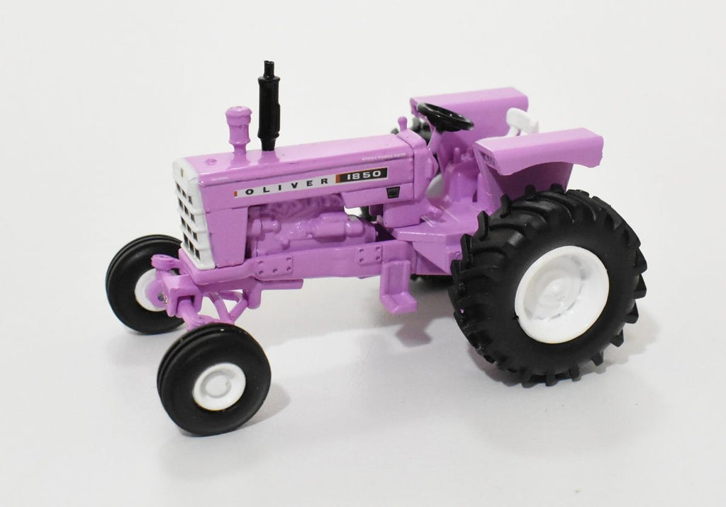 Oliver 1850 Wide Front Tractor Purple 1:64 Diecast Model