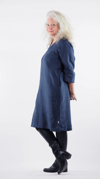 Siena Dress Rogue Linen Designer Clothing