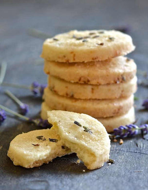 Lavender Shortbread Cookies - Closet Full of Wax
