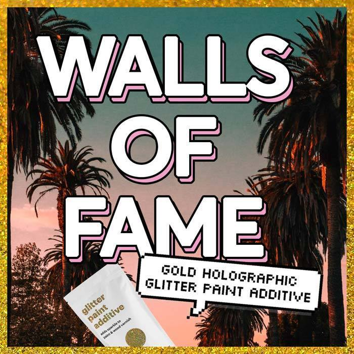 Walls of Fame | Gold Holographic Glitter Paint Additive