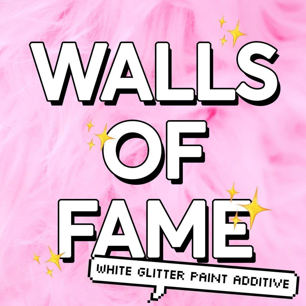 Walls of Fame | White Glitter Paint Additive