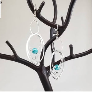 Turquoise Multiple Hoops Earrings