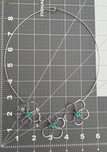 Load image into Gallery viewer, Flower Necklace Turquoise
