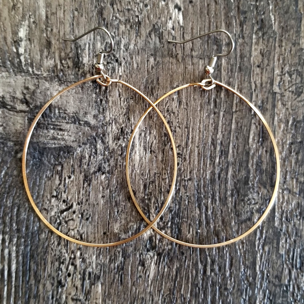 Big Bronze Hoop Earrings