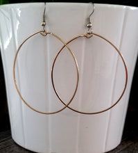 Load image into Gallery viewer, Big Bronze Hoop Earrings