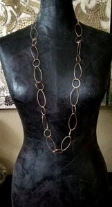 OV Long Bronze Necklace