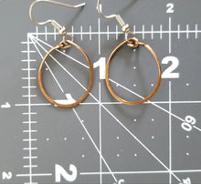 Load image into Gallery viewer, Small Bronze Hoop Earrings