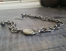 Load image into Gallery viewer, Pyrite Chain Bracelet