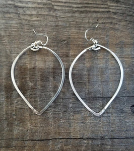 Big Leaf Hoop Earrings