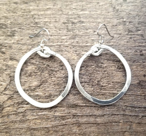 "Thick Hoop Earrings 1""1/2"
