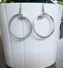 "Load image into Gallery viewer, Thick Hoop Earrings 1""1/2"
