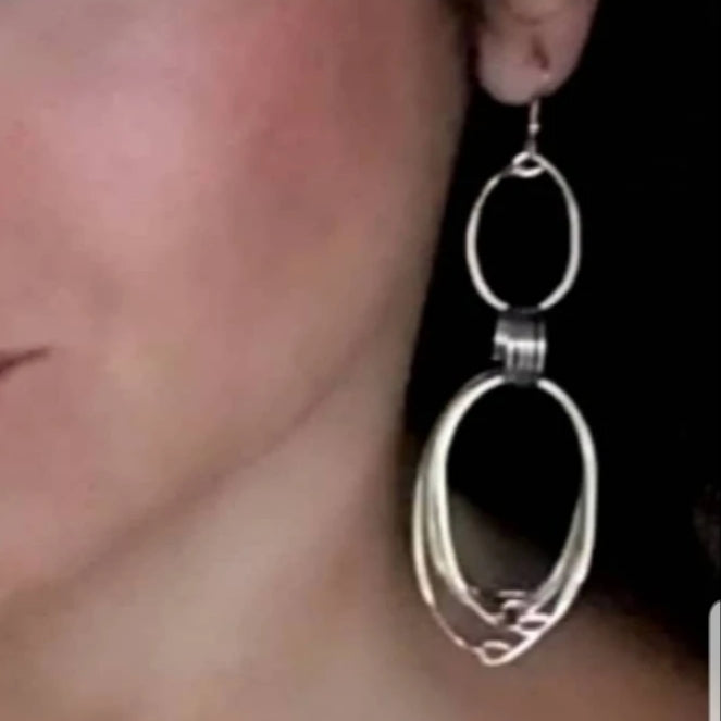 Long Multiple Oval Earrings