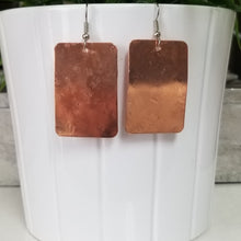 Load image into Gallery viewer, Copper Rectangle Earrings