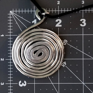Thick Spiral Pendant