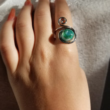 Load image into Gallery viewer, Spiral Teal Ring