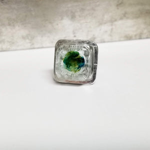 White & Green Mix Ring