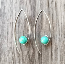 Load image into Gallery viewer, Turquoise Long Earrings