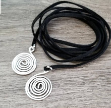 Load image into Gallery viewer, Spiral Lariot Necklace