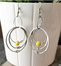 Load image into Gallery viewer, Yellow Hoops Earrings