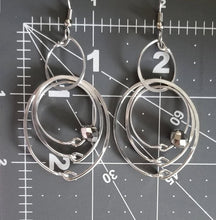 Load image into Gallery viewer, Silver Multiple Hoops Earrings
