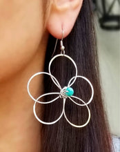 Load image into Gallery viewer, Turquoise Flower Earrings