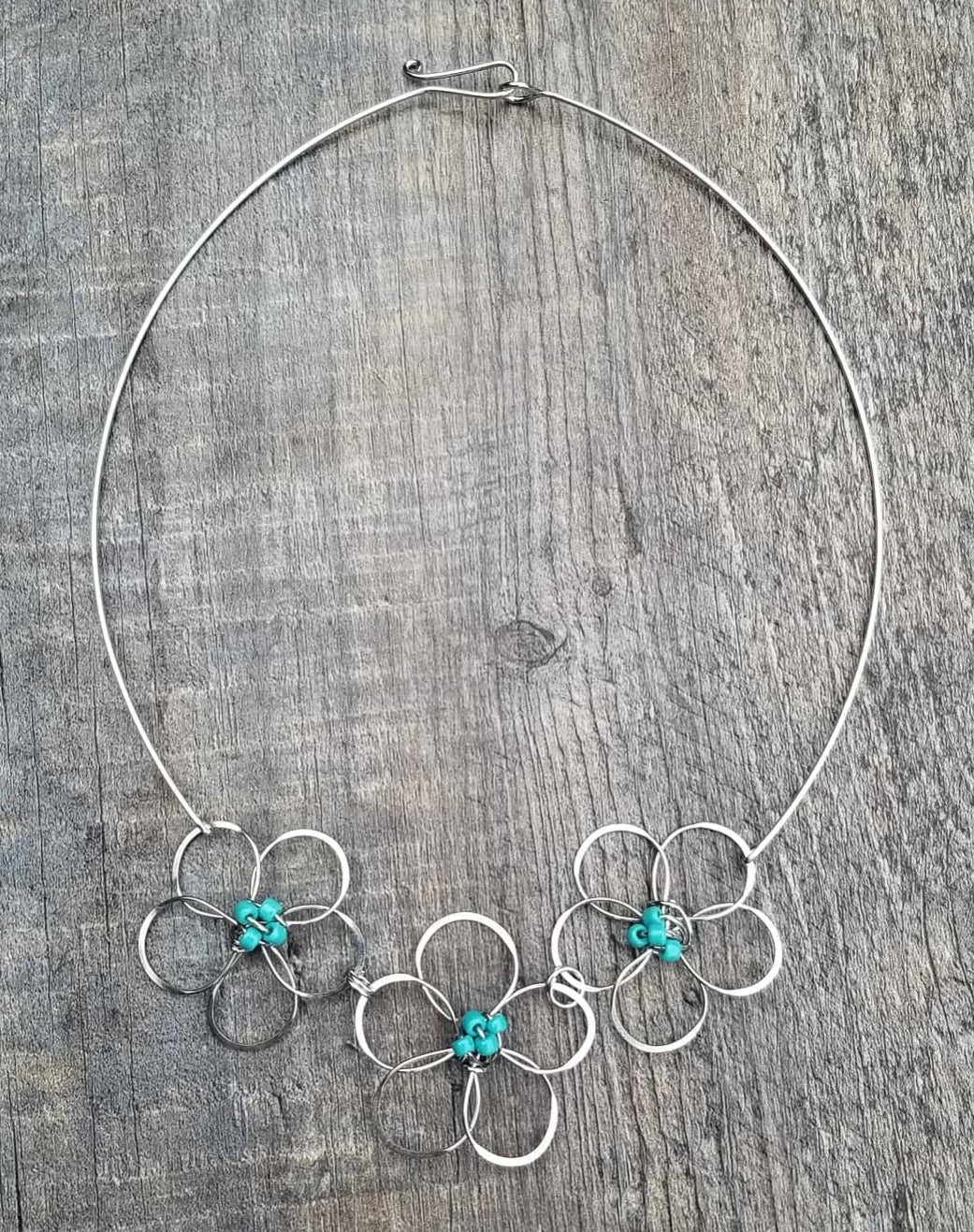 Flower Necklace Turquoise