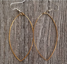 Load image into Gallery viewer, Long Bronze Hoop Earrings