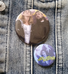 Jay and Silent Bob pin back button