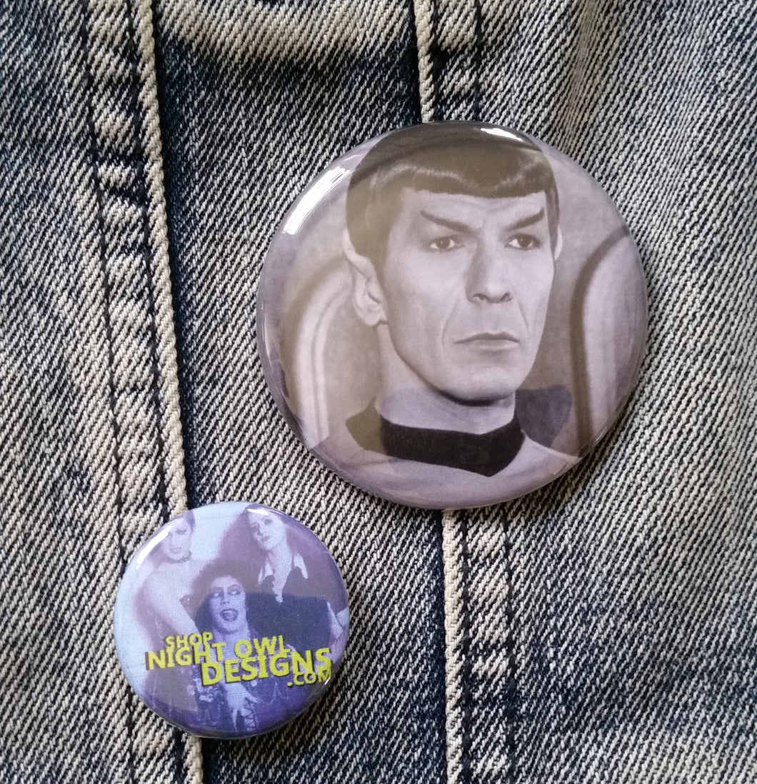 Spock pin back button