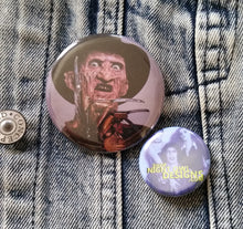 Freddy Kreugar pin back button