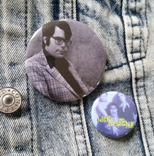 Stephen King Black and White pin back button