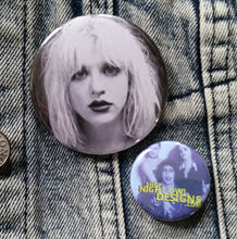 Courtney Love pin back button