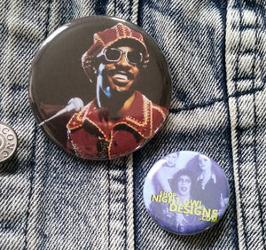 Stevie Wonder - 70s pin back button