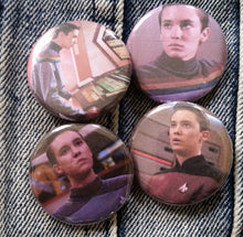 Wesley Crusher pin back button