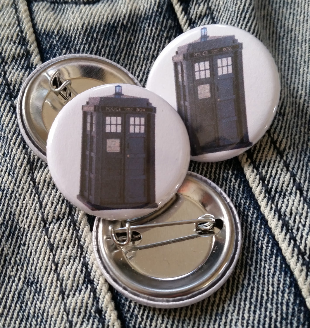 Tardis pin back button