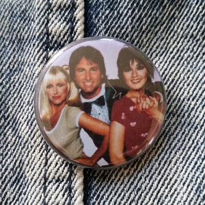 Three's Company Pin Back Button