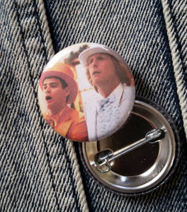 Dumb and Dumber Pin Back Button