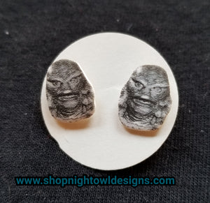 Creature from the Black Lagoon Post Earrings