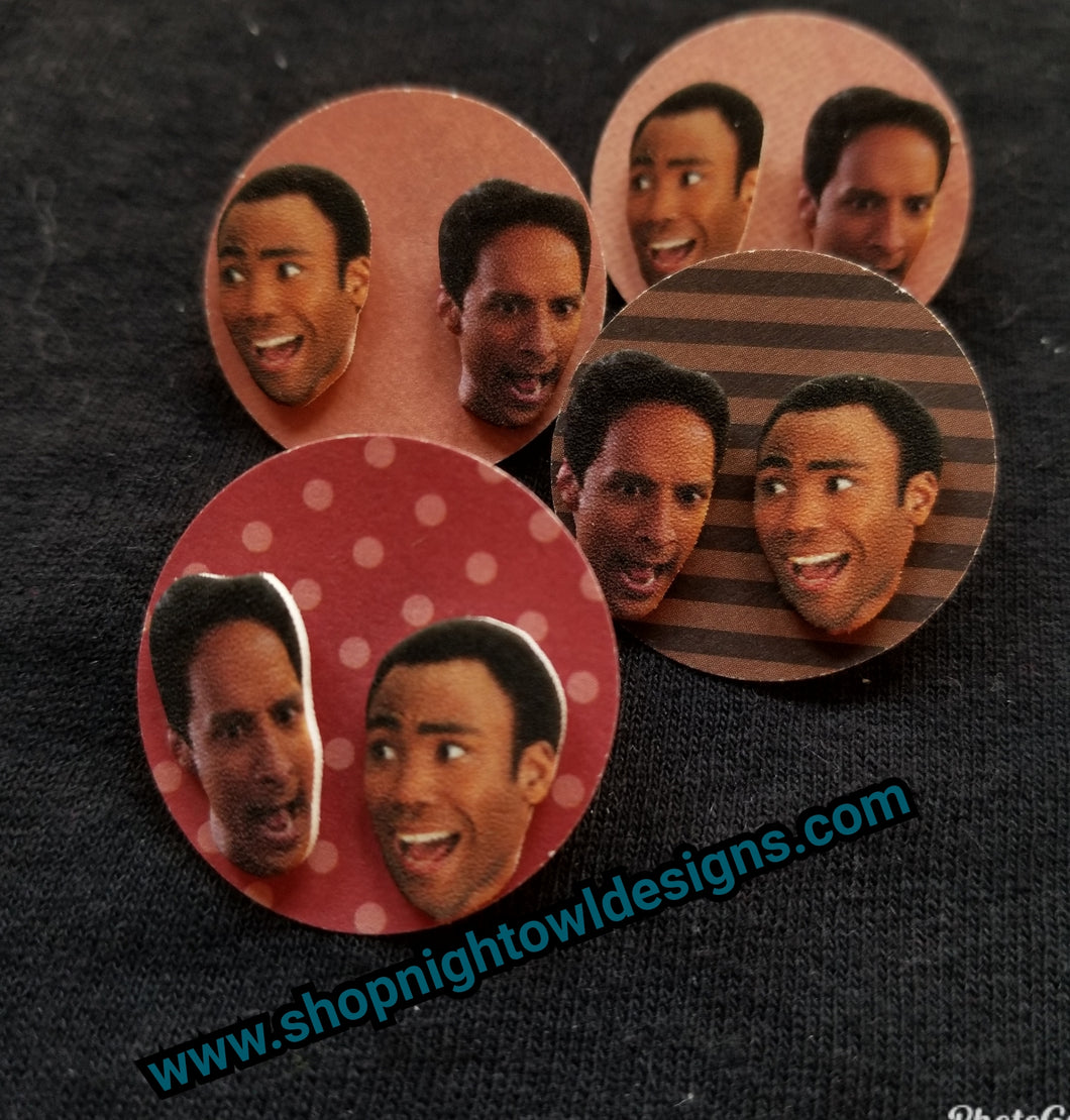Troy and Abed Post Earrings