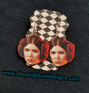 Princess Leia earrings