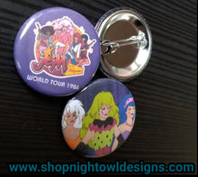 Jem and The Misits pin back buttons