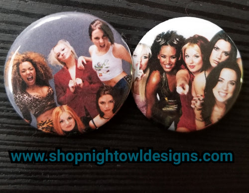 Spice Girls pin back button