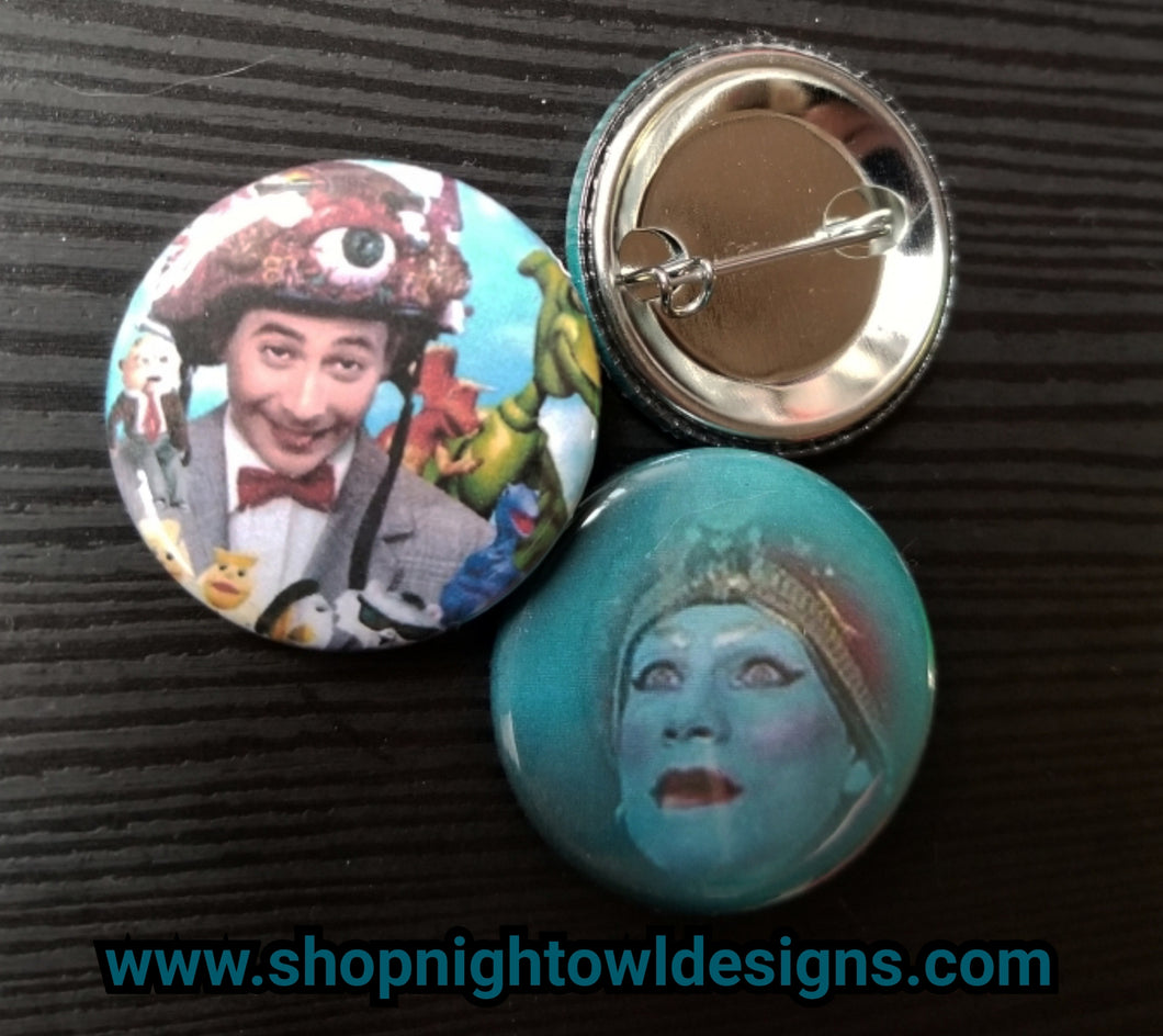 Pee Wee and Jambi pin back button