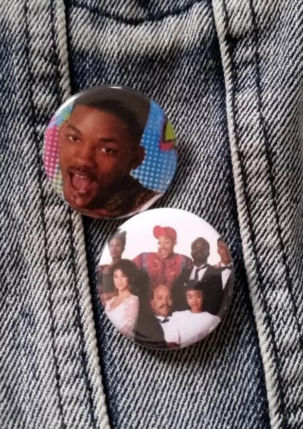Fresh Prince pin back buttons