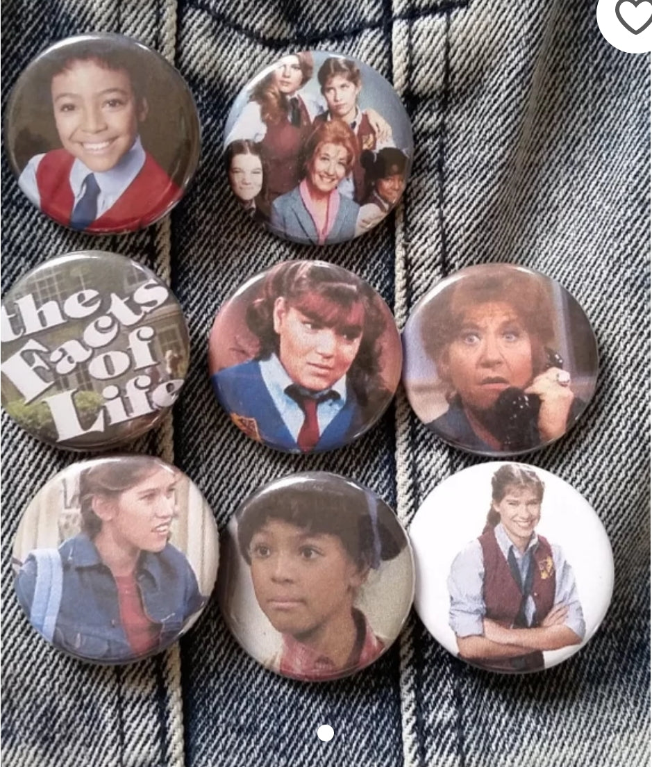 Facts of Life pin back buttons