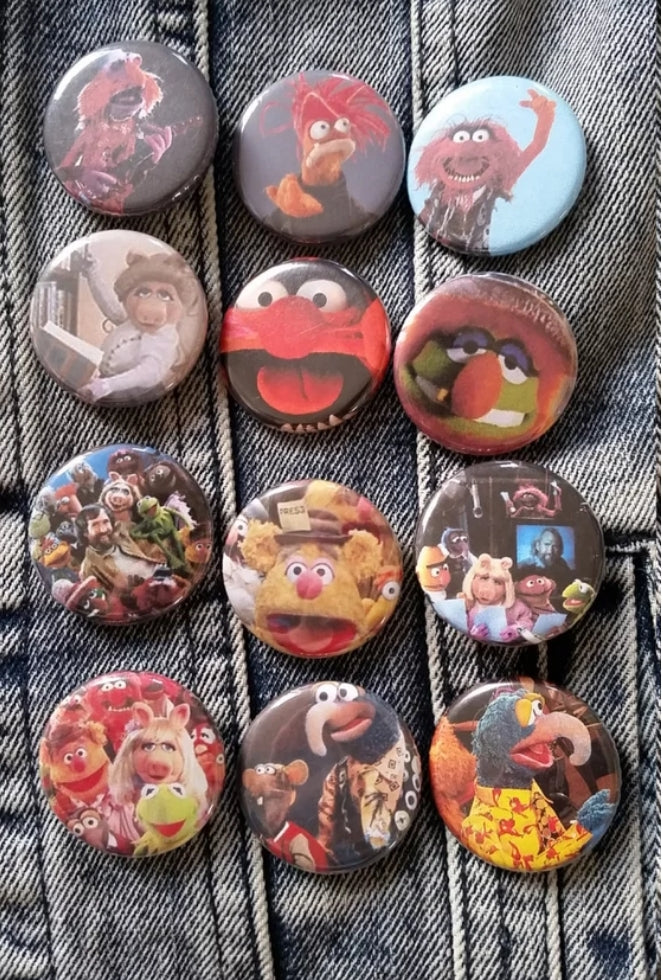 Muppets pin back buttons