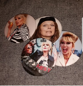 Ab Fab pin back buttons