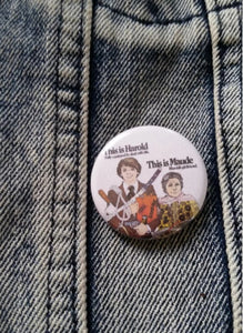 Harold and Maude pin back button