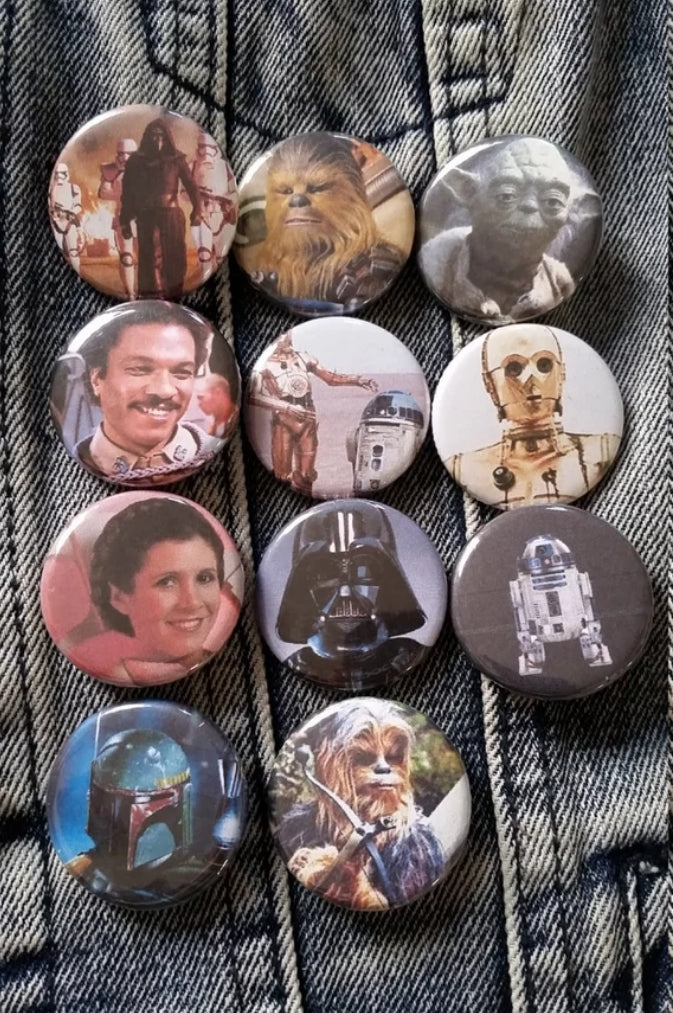 Star Wars pin back button