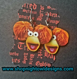 Red Fraggle earrings